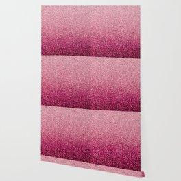 Pink Ombre Glitter Wallpaper