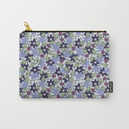 Violets Are Blue floral print Carry-All Pouch