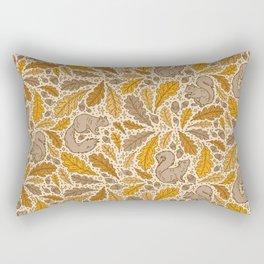 Oak & Squirrels | Autumn Yellows Palette Rectangular Pillow