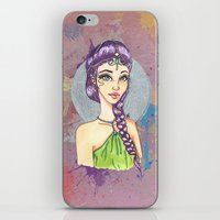 princess iPhone & iPod Skins featuring Princess by Lagoonartastic