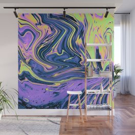 Abstract Flow Psychedelic paint Wall Mural