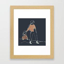 journey inverted Framed Art Print