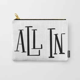 All In: white Carry-All Pouch
