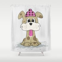 dylan Shower Curtains featuring Dylan Dog by Stu Jones
