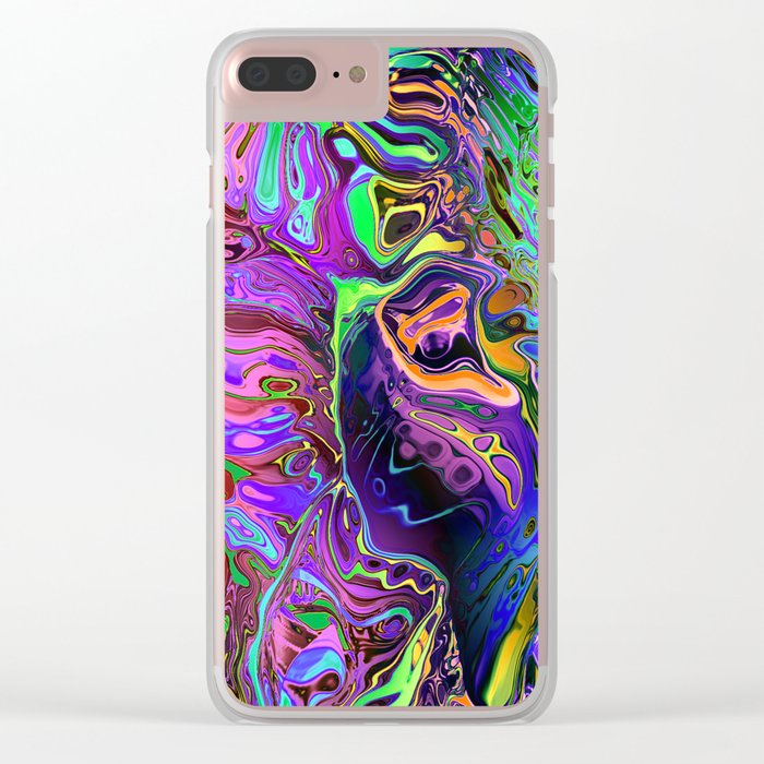 Reflective Colors Abstract Clear iPhone Case