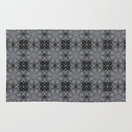 Sharkskin Floral Geometric Rug