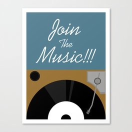 Join The Music Canvas Print
