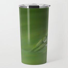 Water drops on green grass Travel Mug