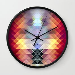 Abstract Geometric Spectrum 2 Wall Clock