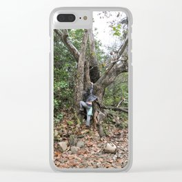 climbing forest Clear iPhone Case