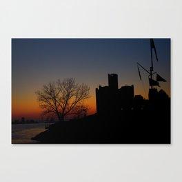 Detroit falls asleep Canvas Print