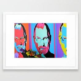 Steve Jobs Memorial in Santa Monica, CA Framed Art Print