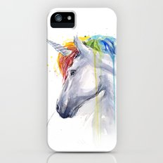 Rainbow Unicorn Watercolor Animal Magical Whimsical Animals iPhone (5, 5s) Slim Case