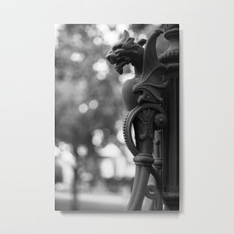 Manticore Lamp Post Metal Print