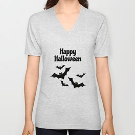 Happy Halloween - Bats Unisex V-Neck
