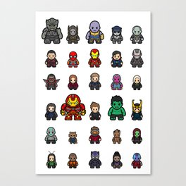 All Characters Canvas Print