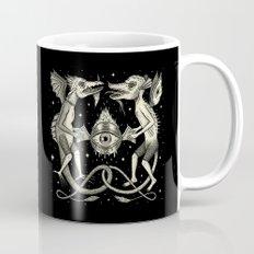 Heraldic Beasts with All-Seeing Orb Mug