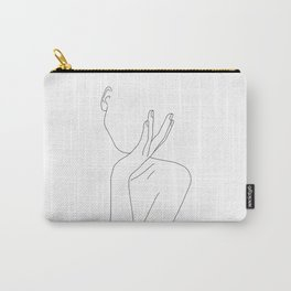 Woman's body line drawing illustration - Darla Carry-All Pouch