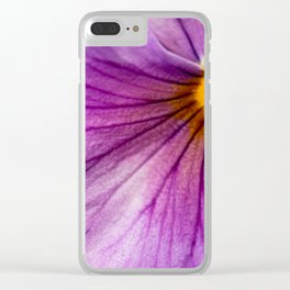 Purple Pansy Flower Close-up #decor #society6 #buyart Clear iPhone Case