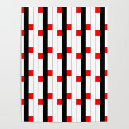 Tribute to mondrian 3- piet,geomtric,geomtrical,abstraction,de  stijl, composition. Poster