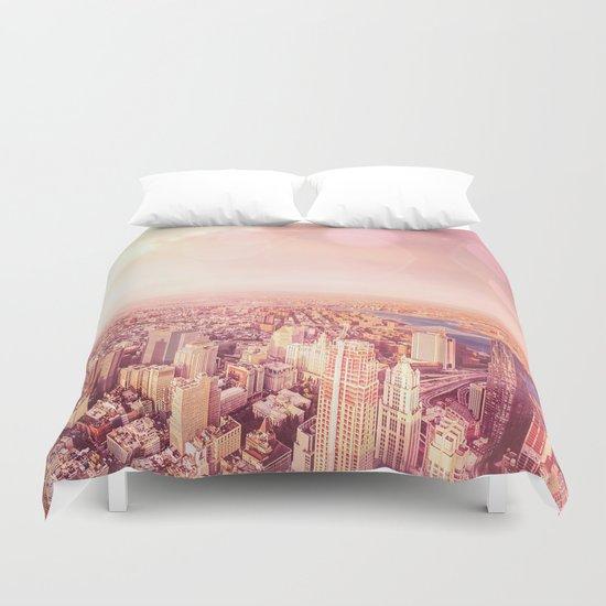 New York City Skyline of Light Duvet Cover