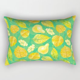 Autumn pattern watercolor Rectangular Pillow