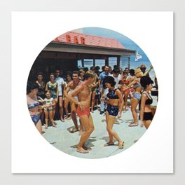 Party At The Beach Bar Canvas Print