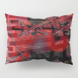 Line and Red Pillow Sham