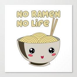 Ramen Bowl Japanese Noodles Soy Miso Noodle Soup Canvas Print
