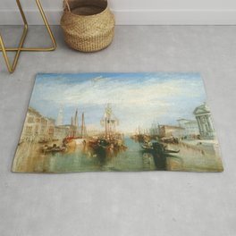 """J. M. W. Turner """"Venice, from the Porch of Madonna della Salute (The Grand Canal - Venice)"""" Rug"""