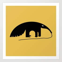 Angry Animals - Anteater Art Print