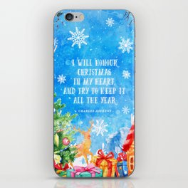 I will honour christmas in my heart iPhone Skin