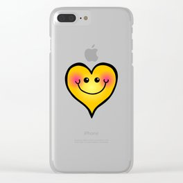 Happy Smiling Heart Shape Clear iPhone Case