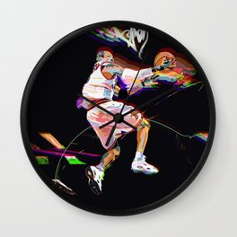 Philadelphia Sports Icon #3 Basketball Player Poster Wall Clock