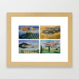 Battle Cruisers of Tuscany, quad 1 Framed Art Print