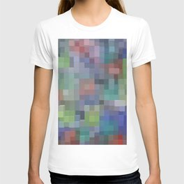 Abstract pixel pattern T-shirt