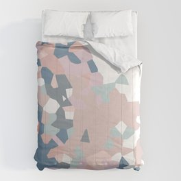 love the world to pieces pinks and grays Comforters