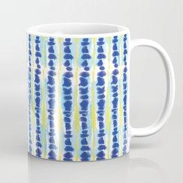 Modern Tie Dye-Blue & Yellow-Rock Stacking Coffee Mug
