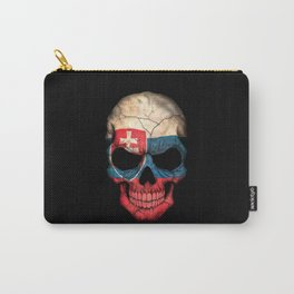 Dark Skull with Flag of Slovakia Carry-All Pouch