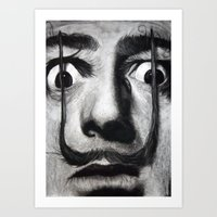 dali Art Prints featuring I am drugs ( Salvador Dali ) by Black Neon