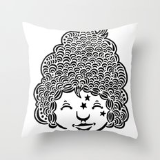 Smiling is good for you. Throw Pillow