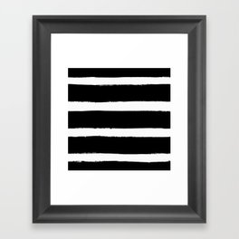 Black & White Paint Stripes by Friztin Framed Art Print