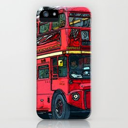 London Bus bywhacky iPhone Case