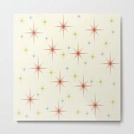 Mid Century Modern Stars 1950s Colors Metal Print