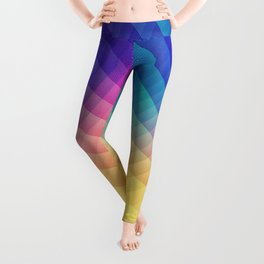 Spectrum Bomb! Fruity Fresh (HDR Rainbow Colorful Experimental Pattern) Leggings