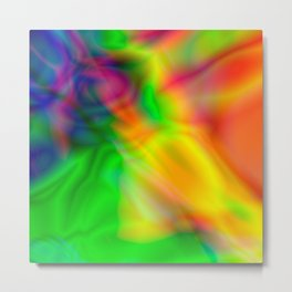Abstract Iridescent Water Metal Print