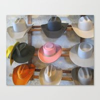 hats Canvas Prints featuring Hats by Judith Kimber Photography