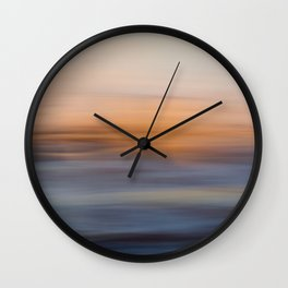 Undulating Sunset Wall Clock