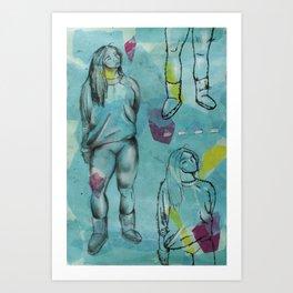 Geometric Figure Drawing Art Print