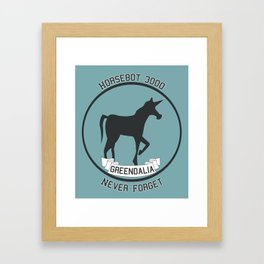 Horsebot 3000 Never Forget Framed Art Print